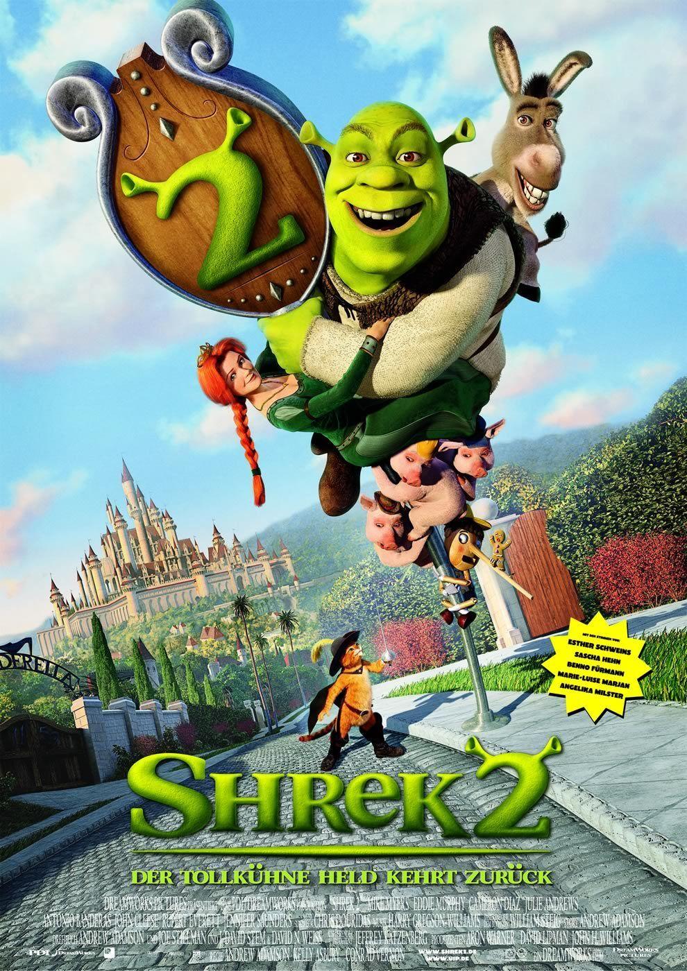 Shrek 2 With Mike Myers As Shrek Eddie Murphy As Donkey Cameron