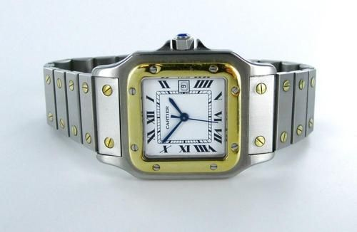 bf18fe48bde GENTS CARTIER SANTOS 18KT YELLOW GOLD   STAINLESS STEEL AUTOMATIQUE WATCH   2
