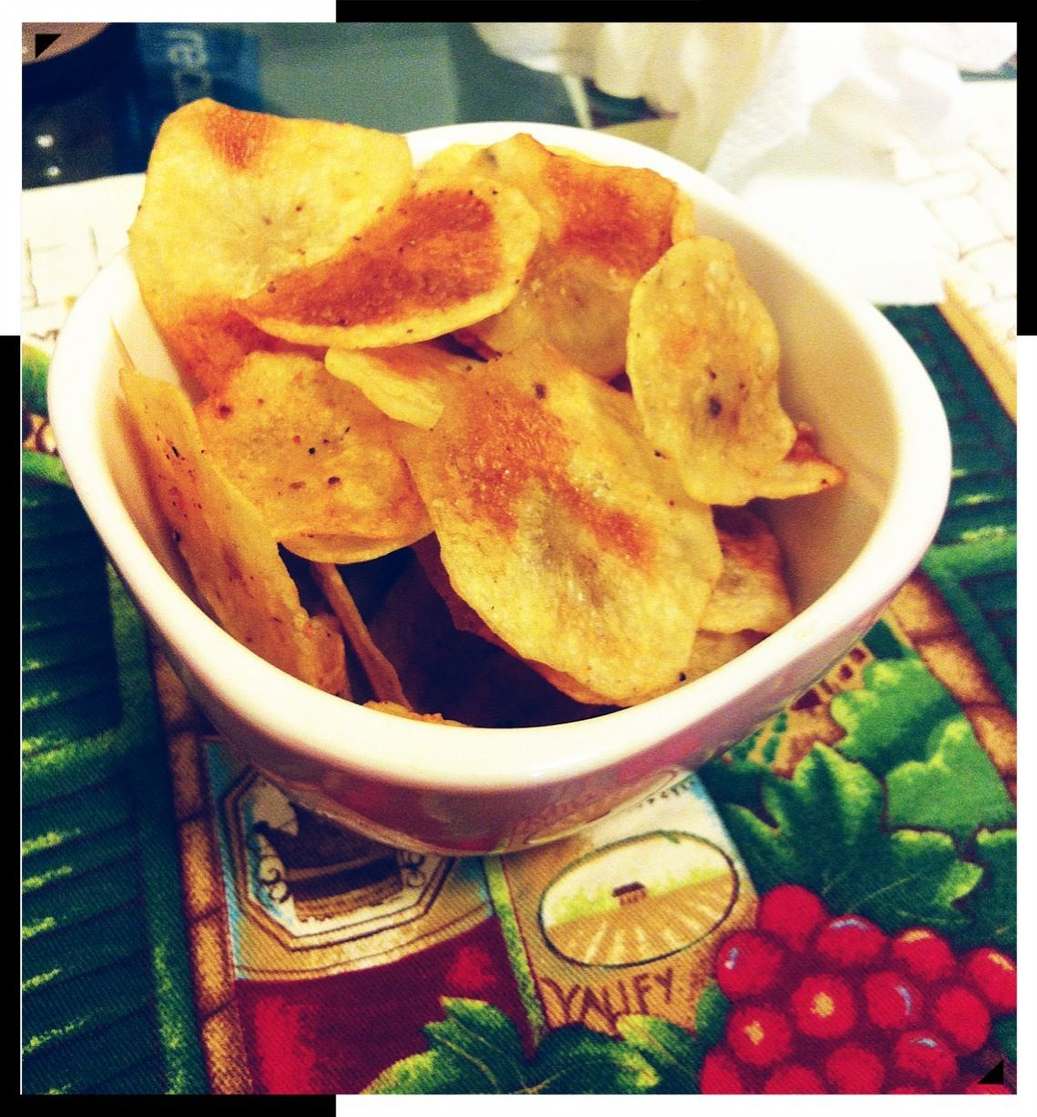 How to Make Healthy Baked Potato Chips!;)