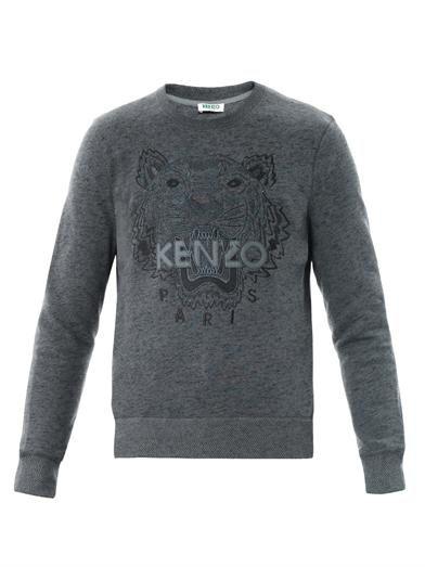 Kenzo embroydered Tiger sweatshirt Dark grey | Tiger