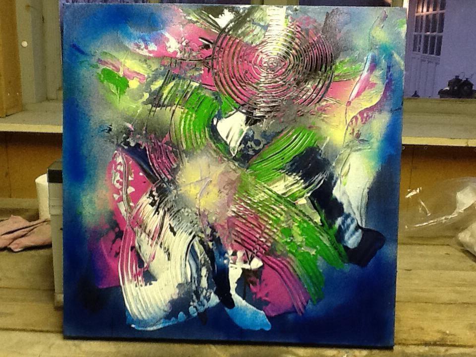 Abstrakte malerier akryl