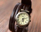 Wrap Watch Leather Bracelet Watch