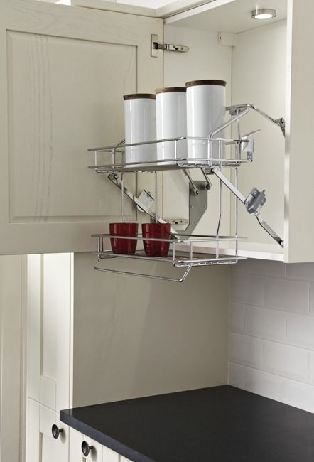 Kitchen Storage U0026 Accessories Pull Down Basket Shelves, Two Tier Chrome  Wire, Gas Spring Operated, For Cabinet Width 500 Or 600 Mm   Order In The  Häfele U.