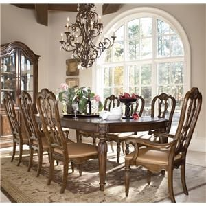 Casa Vita 9 Piece Giordano Dining Table Set By Drexel Heritage At Baer S Furniture Furniture Dining Table Sale Dining Table