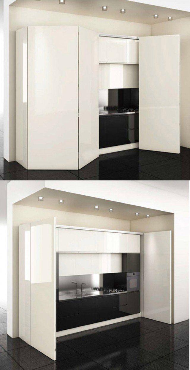 La cucina nell'armadio: mobili compatti e salvaspazio nel ...