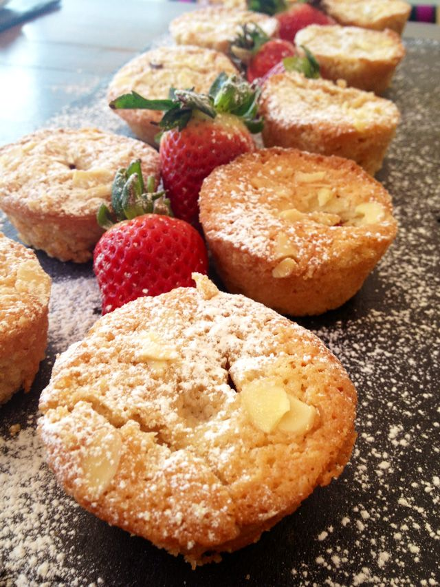 Raspberry and Almond Friands.