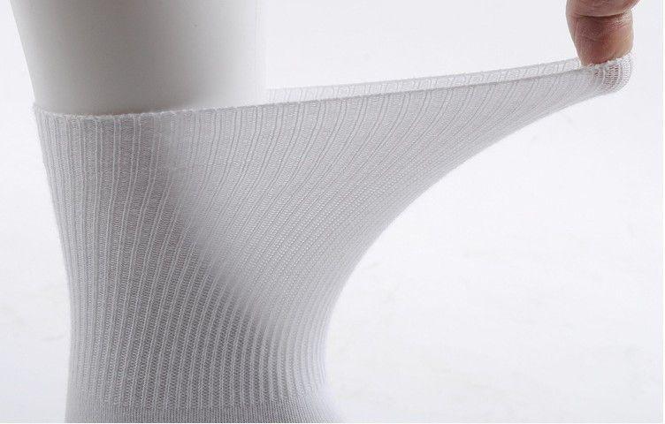 On Sell Wholesale White Cotton Professional Top Quality Diabetic Foot Sock No Elastic 24pcs=12pari/lot MS002