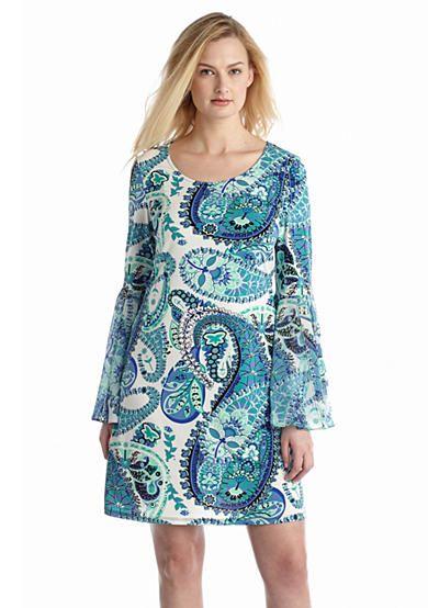 MSK Printed Shift Dress