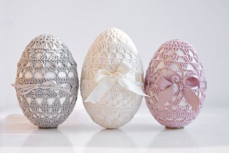 Idee per decorare le uova di pasqua all uncinetto eggs