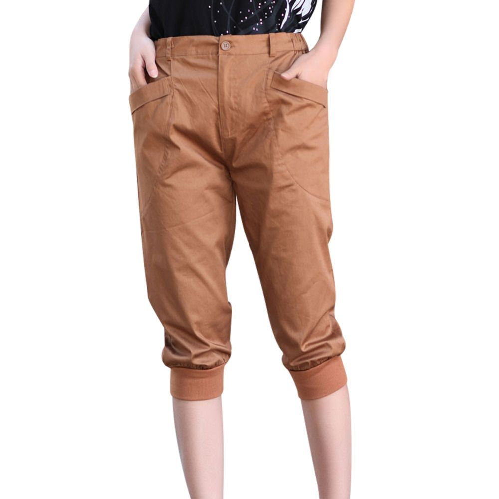 New Summer Lady Casual Design Harem Capris Pants Big Size L-5XL ...