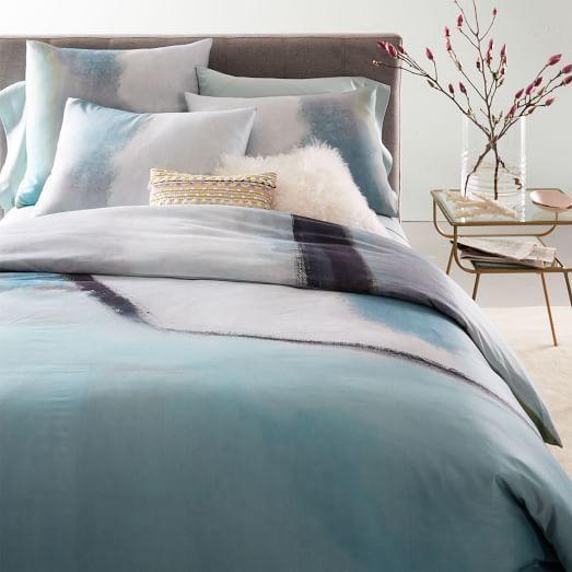 400 Thread Count Organic Sateen Colorscape Duvet Cover Shams Duvet Covers Duvet Home Bedroom