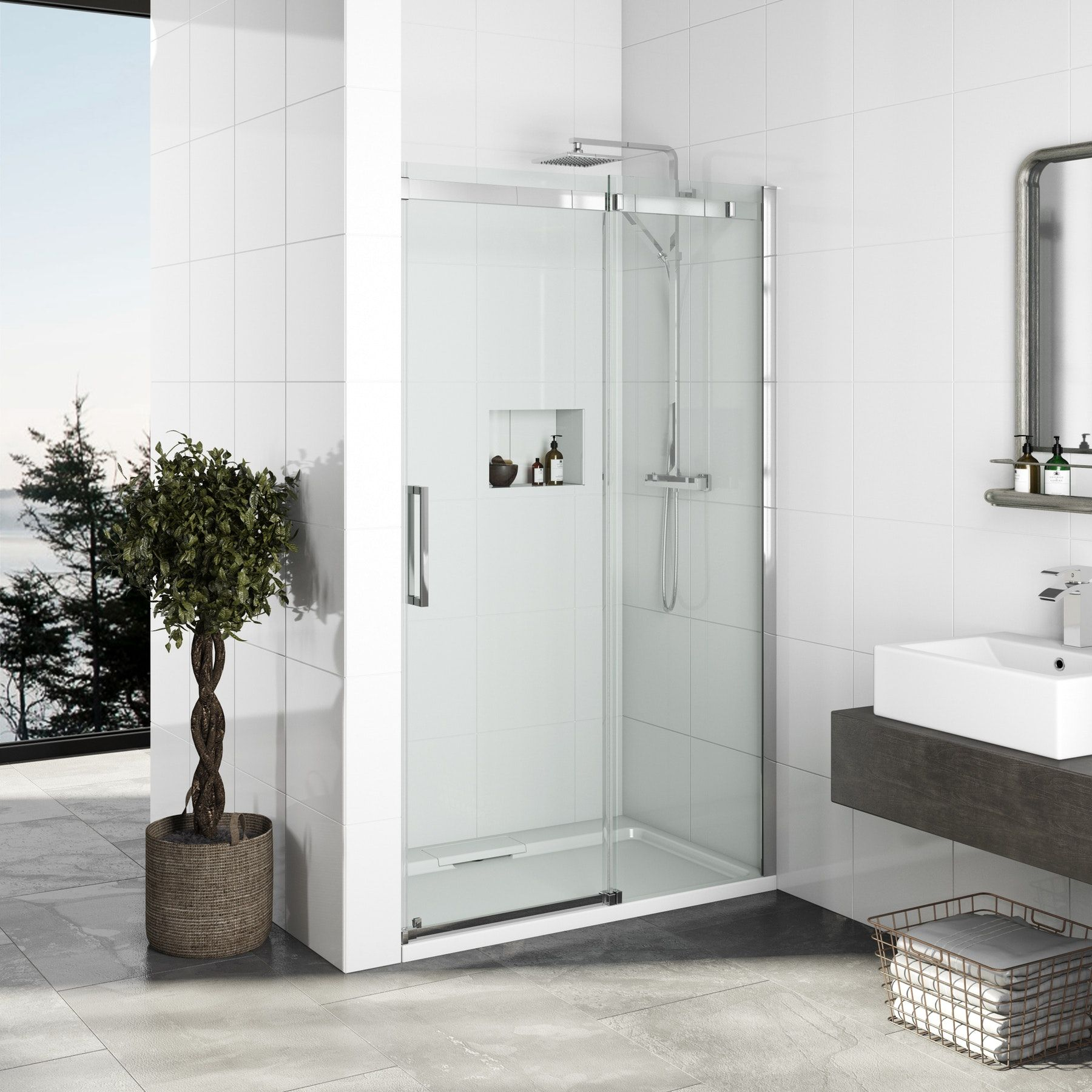 Mode Elite 10mm Frameless Sliding Shower Door 1200mm Shower Doors Frameless Sliding Shower Doors Sliding Shower Door