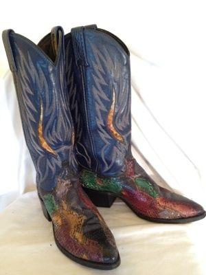 540da19878cfd Details about DAN POST Women's Brown Teju Lizard Leather Western ...