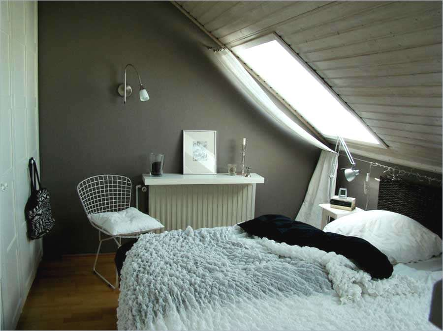 Schlafzimmer Mit Dachschrage Farblich Gestalten , Zimmer Mit ...