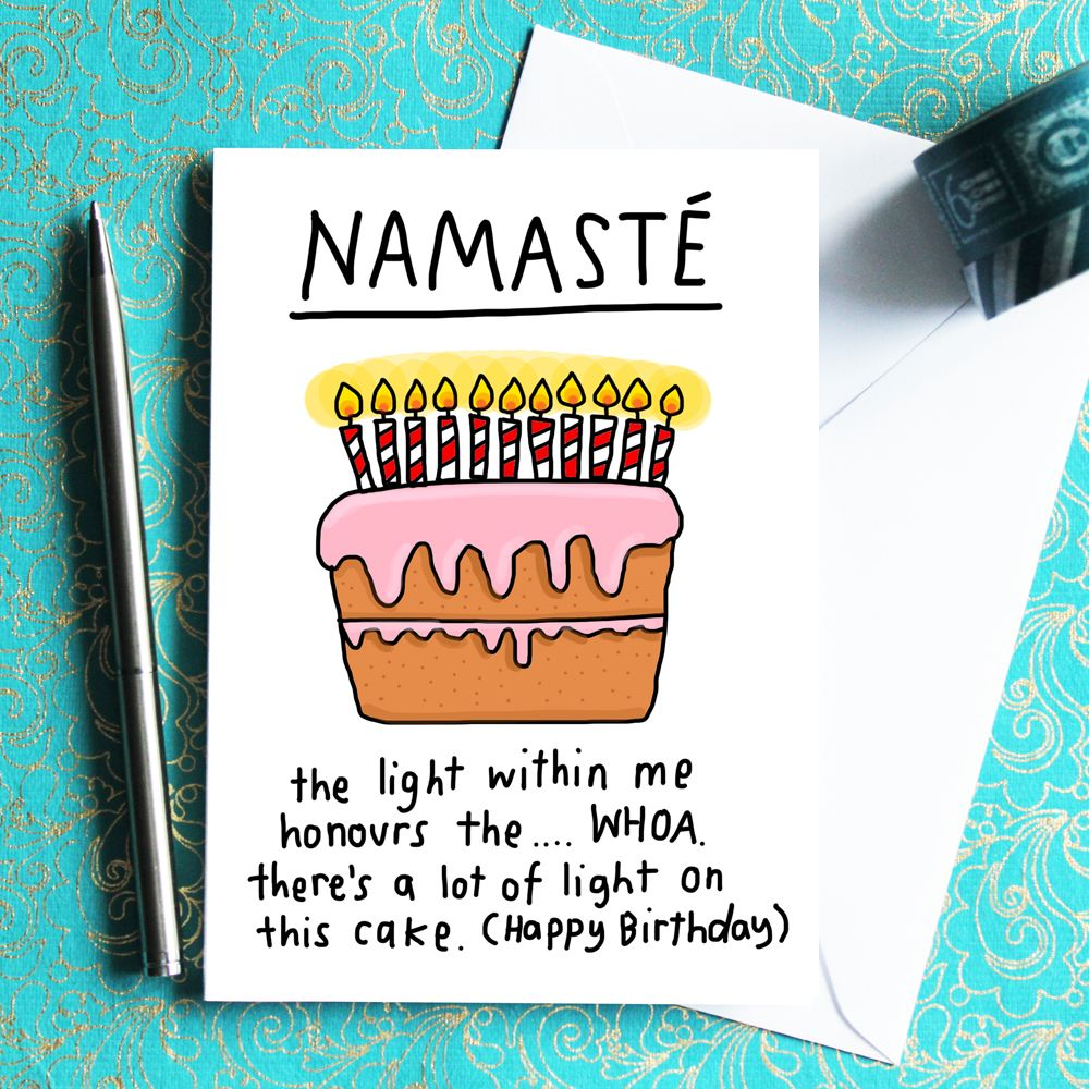 Namaste Birthday Card