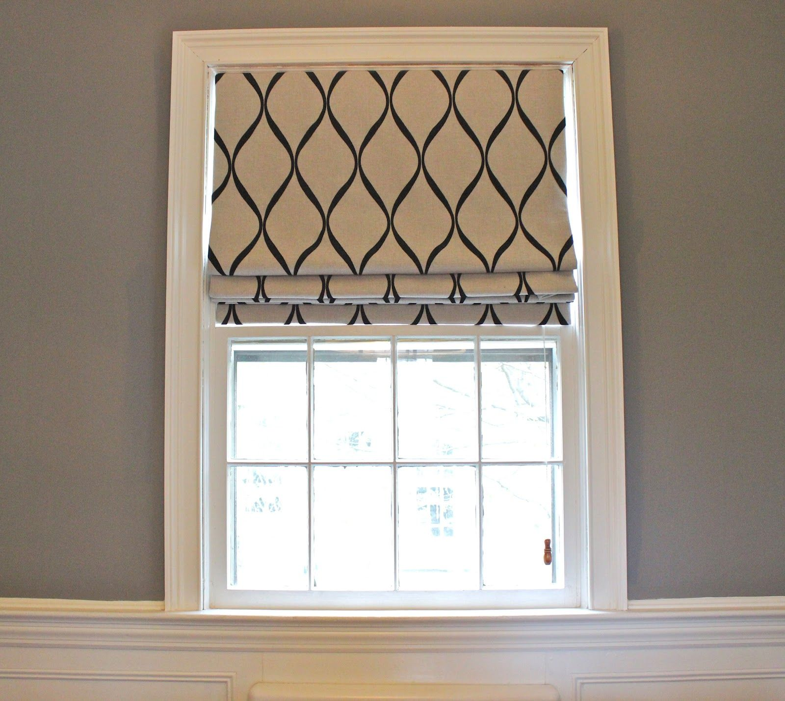 Exciting Home Fashion Using Cordless Roman Shades Charming With Window Molding And