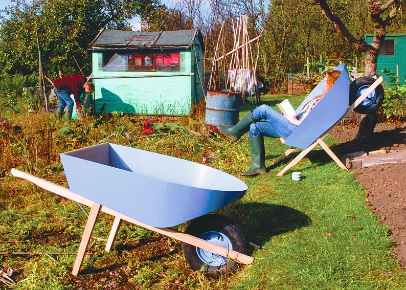 Wonderful Wheelbarrow Seat: Chris Eckersley Awesome Ideas