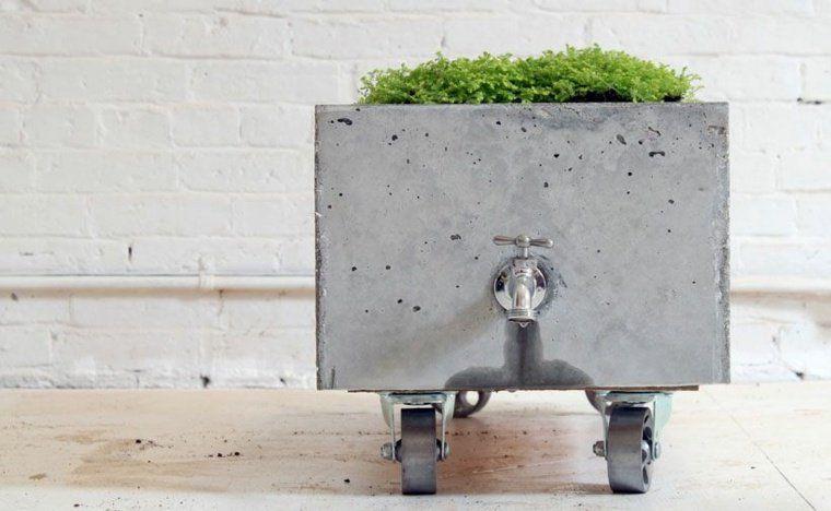 Bricolage De Bac A Fleur Rectangulaire Et Idee De Deco De Jardin Jardiniere Beton Artisanats De Beton Et Pots En Beton Diy