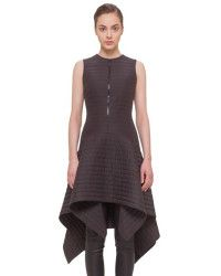 Akris Half Zip Sleeveless Quilted Dress in Black | Lyst