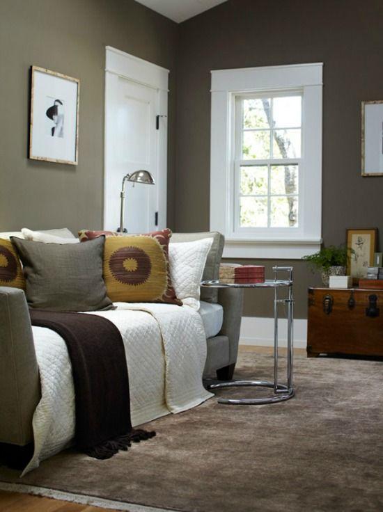 taupe-woonkamer 2 | Interieur- ideeën | Pinterest