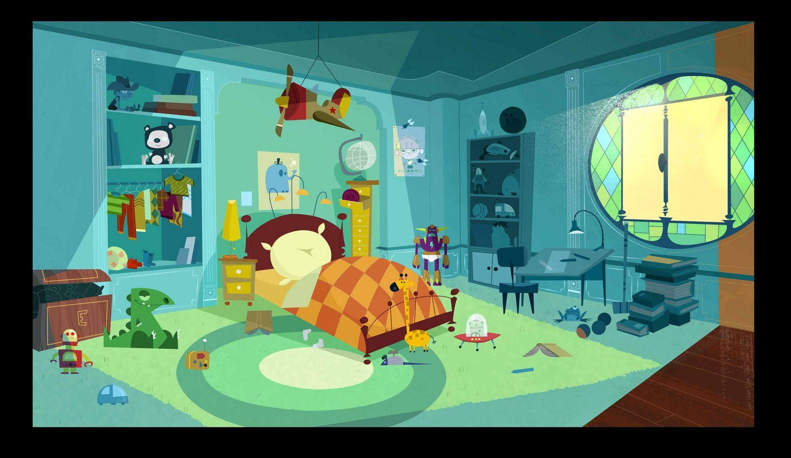 1600x926 14853 eliot kidd 2d illustration room interior for 2d room design
