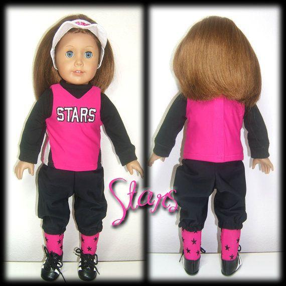 Custom 18 Doll Softball Baseball Replica Uniform by SewWowSewNow, $70.00