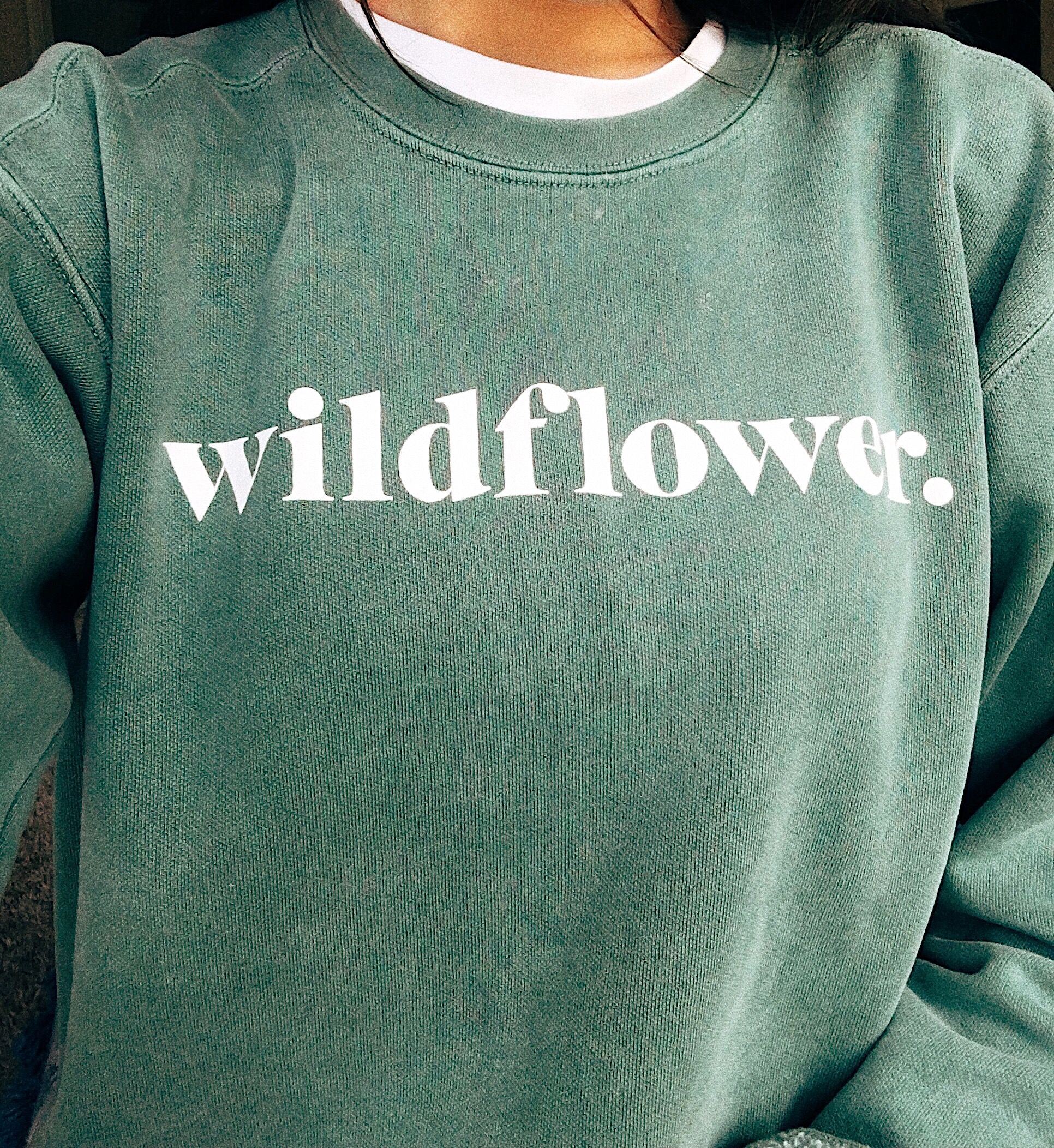 696312d252e1 wldflwr.shop sea foam green crewneck sweater. you are wild ...