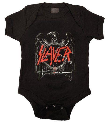 1ae23657 Slayer Eagle Baby One Piece Bodysuit | rock n roll children | Baby ...
