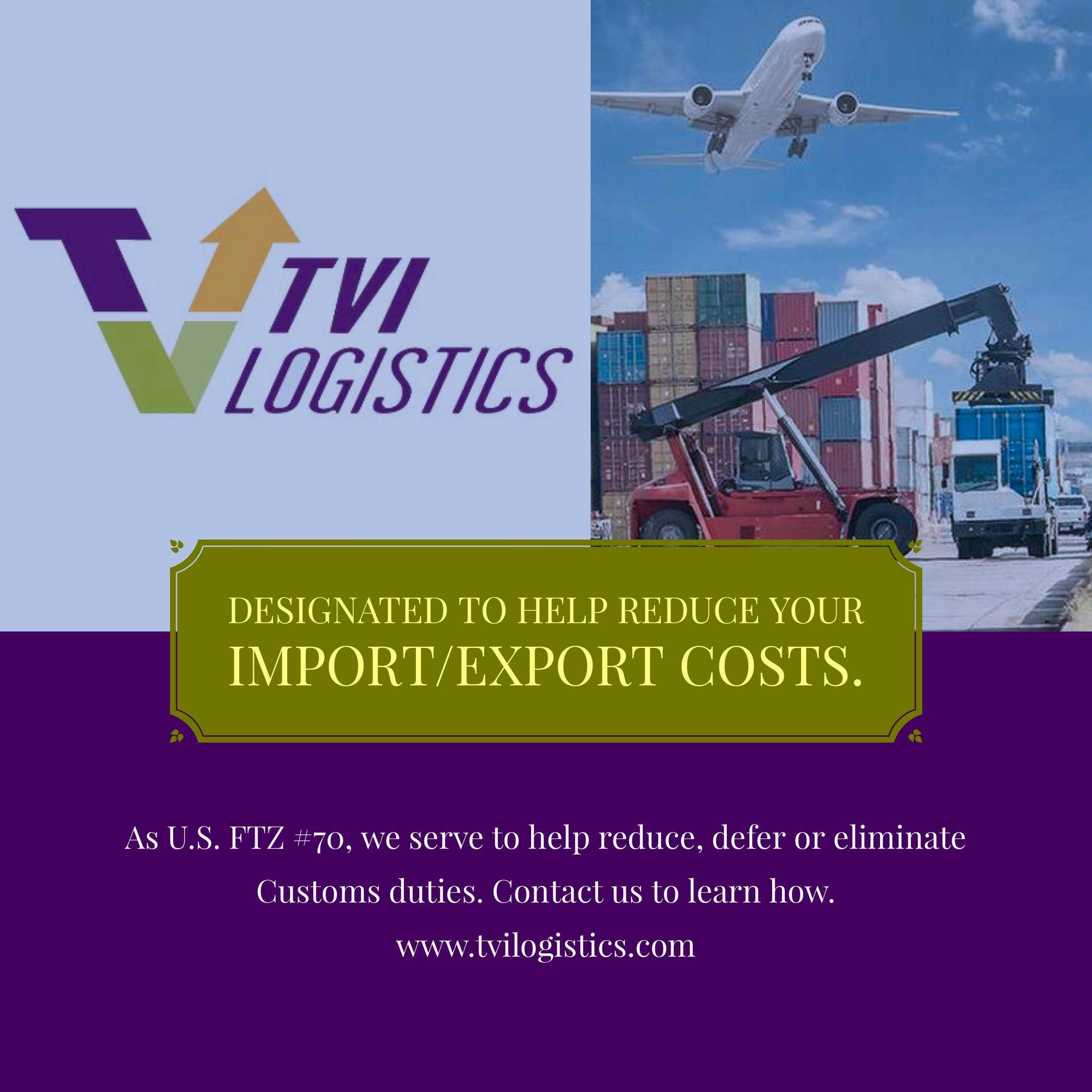 TVI Logistics which is Government-designated as US Foreign ...