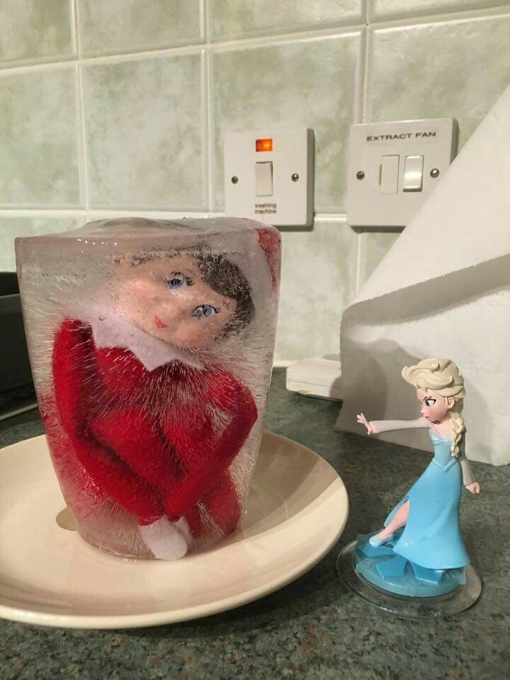 Image result for Elsa vs elf on the shelf