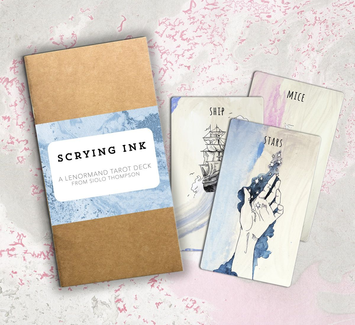 Siolo Thompson, the artist who created The Linestrider Tarot deck, is releasing an indie run of her Lenormand deck, Scrying Ink, in August! You can pre-order it now. She said that the decks will be signed and numbered as the first edition. I love my Linestrider deck so I'm super excited for Scrying Ink.
