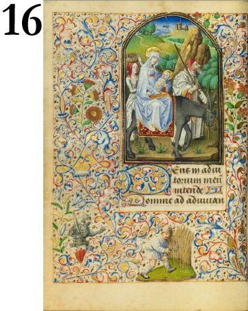 The Flight into Egypt, Master of Jean Rolin II, 1455. The J. Paul Getty Museum