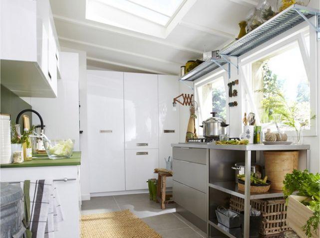 Cuisine avec etagere en hauteur leroy merlin cocina Pinterest - Leroy Merlin Renovation Cuisine