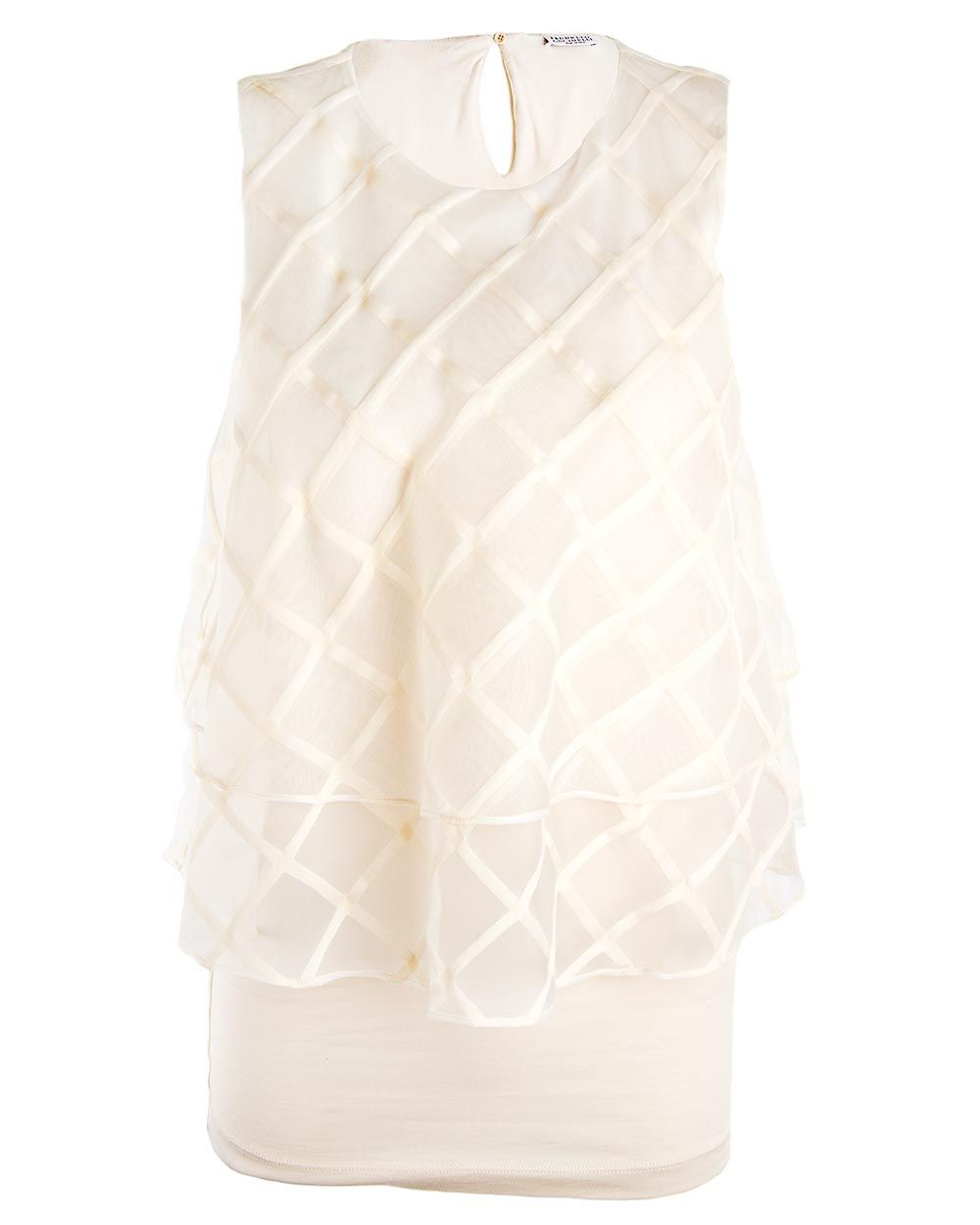 3ccec29f68cdca Brunello Cucinelli Macro Check Layered Flounce Blouse | Best of ...