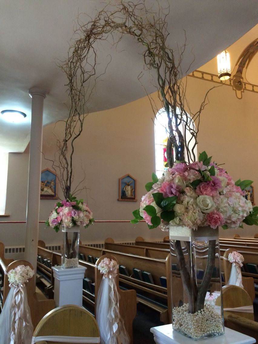 Wedding decorations inside church  Wedding arch in the church  Wedding Ceremony Decorations