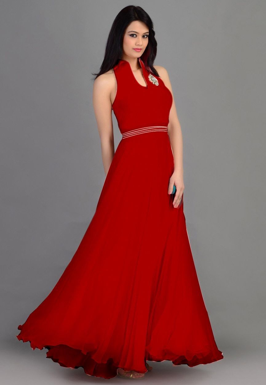 9adcf155bb7c Cherry red party wear evening gown | Evening gowns | Gown party wear ...