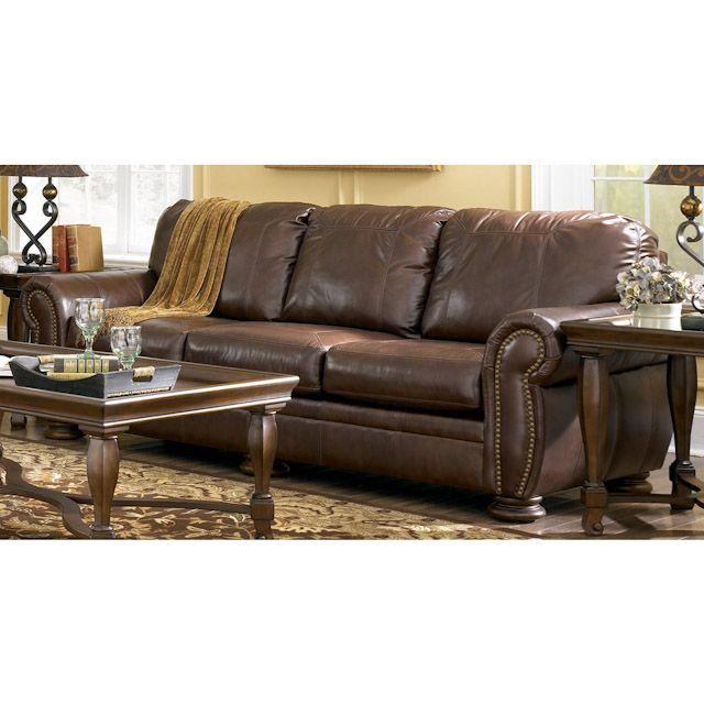 Palmer Leather Sofa Ashley Leather Furniture Winsome Sofa