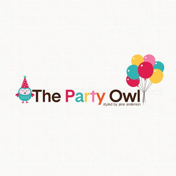 owl logo design party logo design party by stylemesweetdesign