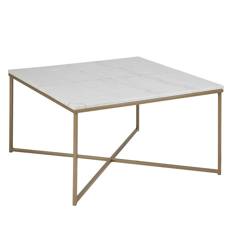 Couchtisch Mibu - Marmor / Metall - Weiß / Messing, Jack And Alice ... Marmor Wohnzimmer Tische