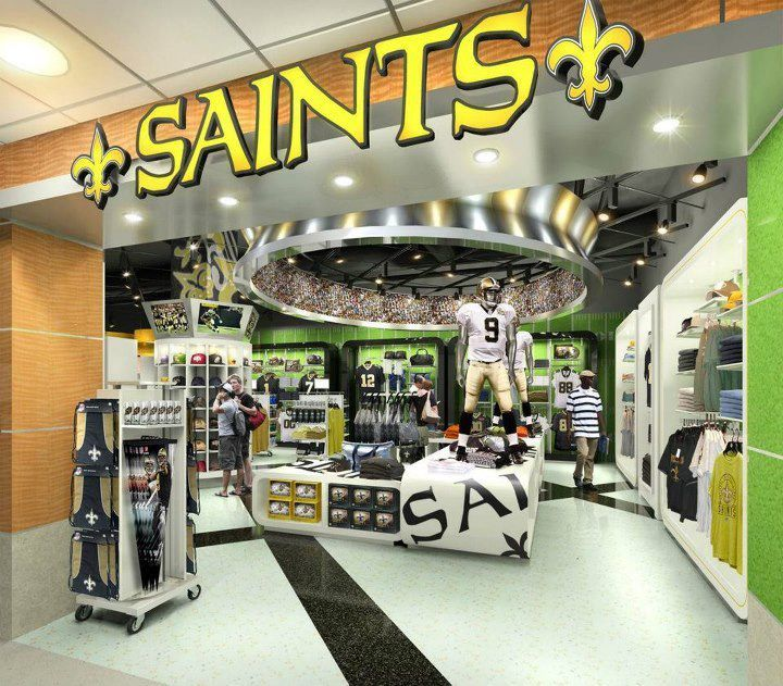 finest selection 3893f 26336 New Orleans Saints New Orleans Saints Store to Open in ...