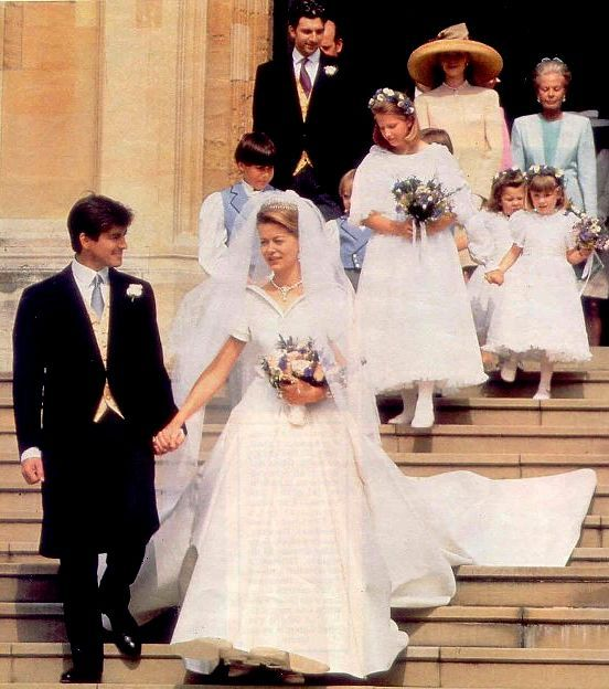 British Royal Wedding Gowns: The Wedding Of Tim Taylor To Lady Helen Windsor At St