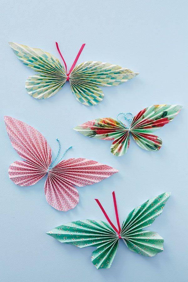 8b50d7526e122 Paper Butterflies Kids Crafts | Mary Madrigal | Butterfly crafts ...