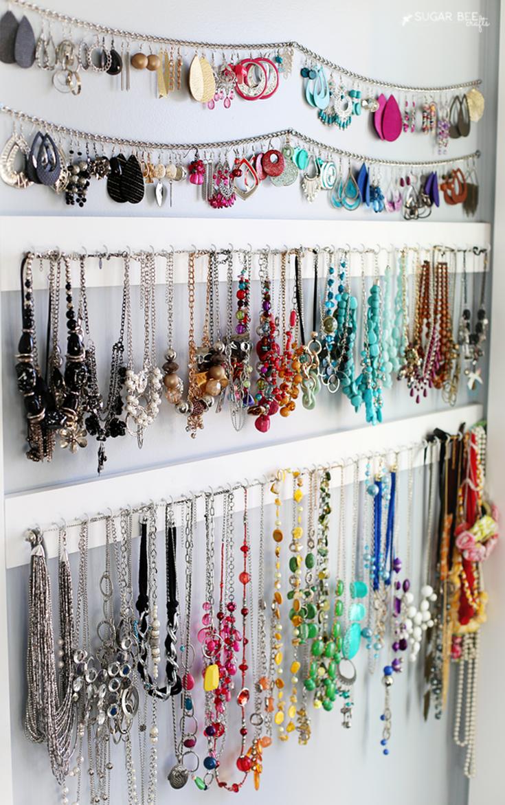 11 Best Ways To Store Organize And Display Your Jewelry Jewellery Storage Jewelry Organizer Diy Jewelry Organizer Wall