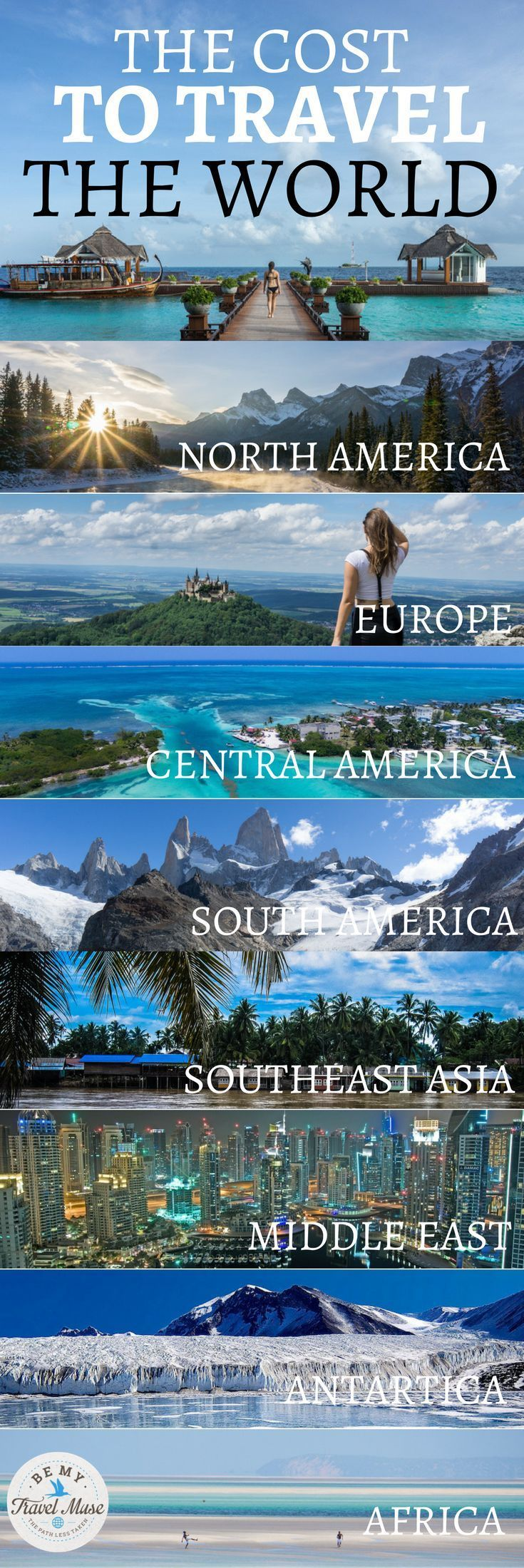 The Cost to Travel Everywhere in the World #aroundtheworldtrips