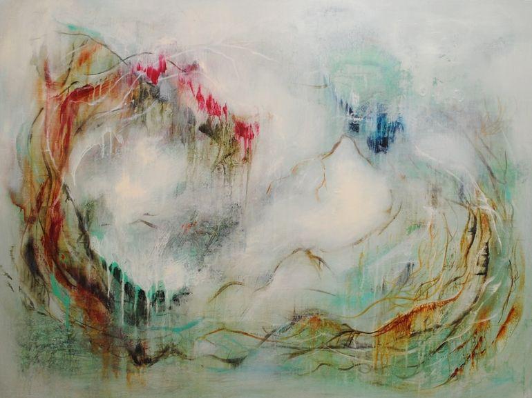 "Saatchi Online Artist: Carmen Larsen; Mixed Media, 2012, Painting ""Finding Reflections"""