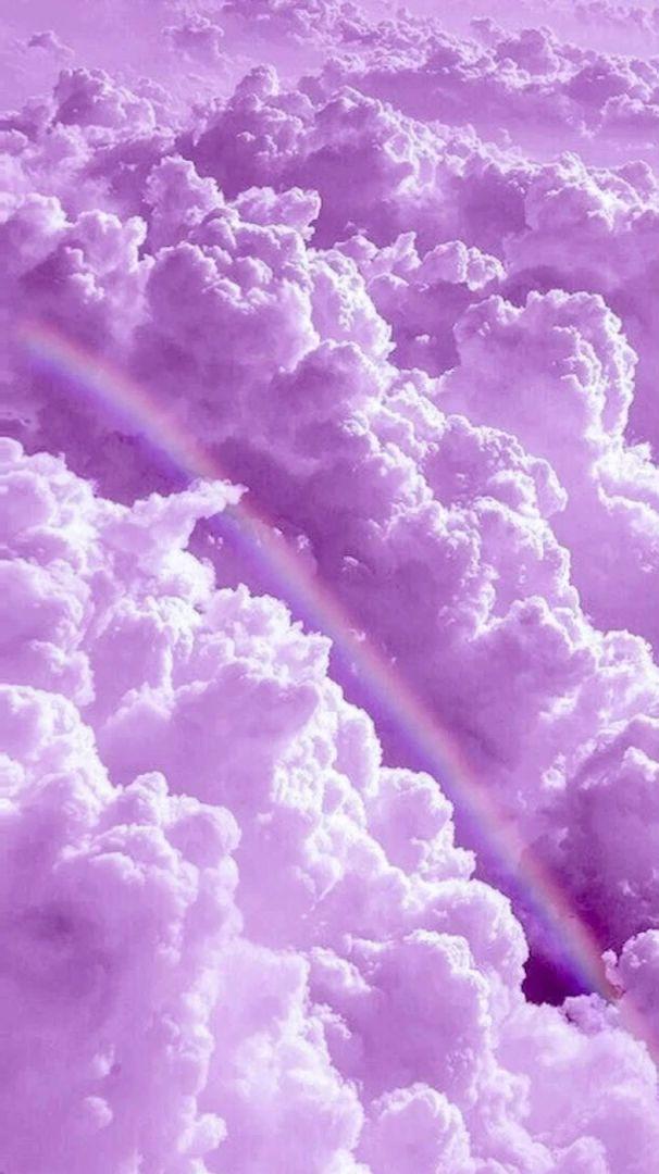Video Purple Cloud 4k Rainbow Ungu Ungu Pastel Gambar Awan Clouds wallpaper iphone aesthetic awan