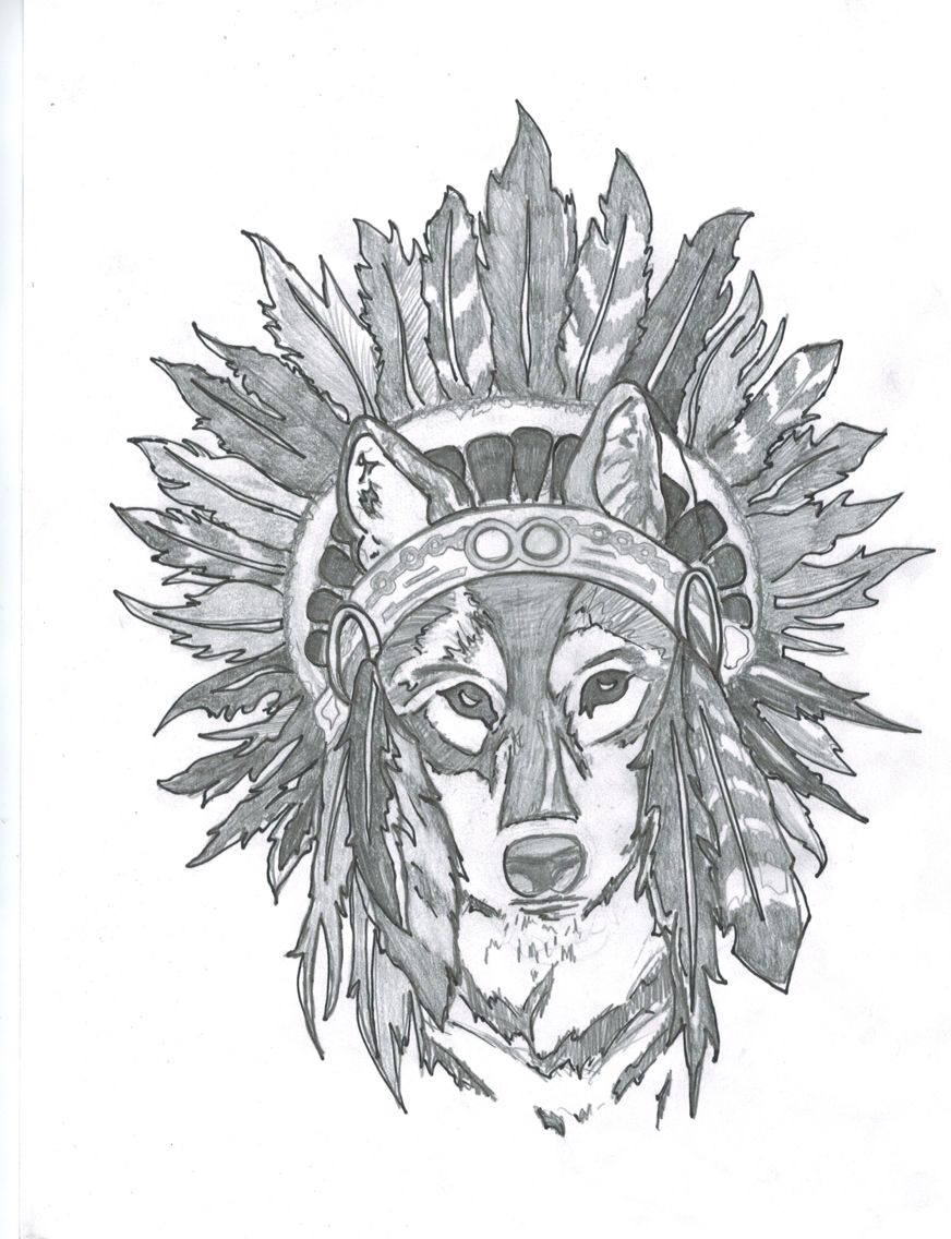Wolf With Headdress : headdress, Extremely, Rough, Drawing, Potential, Tattoo, Myself, #wolf, Headdress, #tattoo, #drawing, Tattoos,, Drawings,, Tattoos