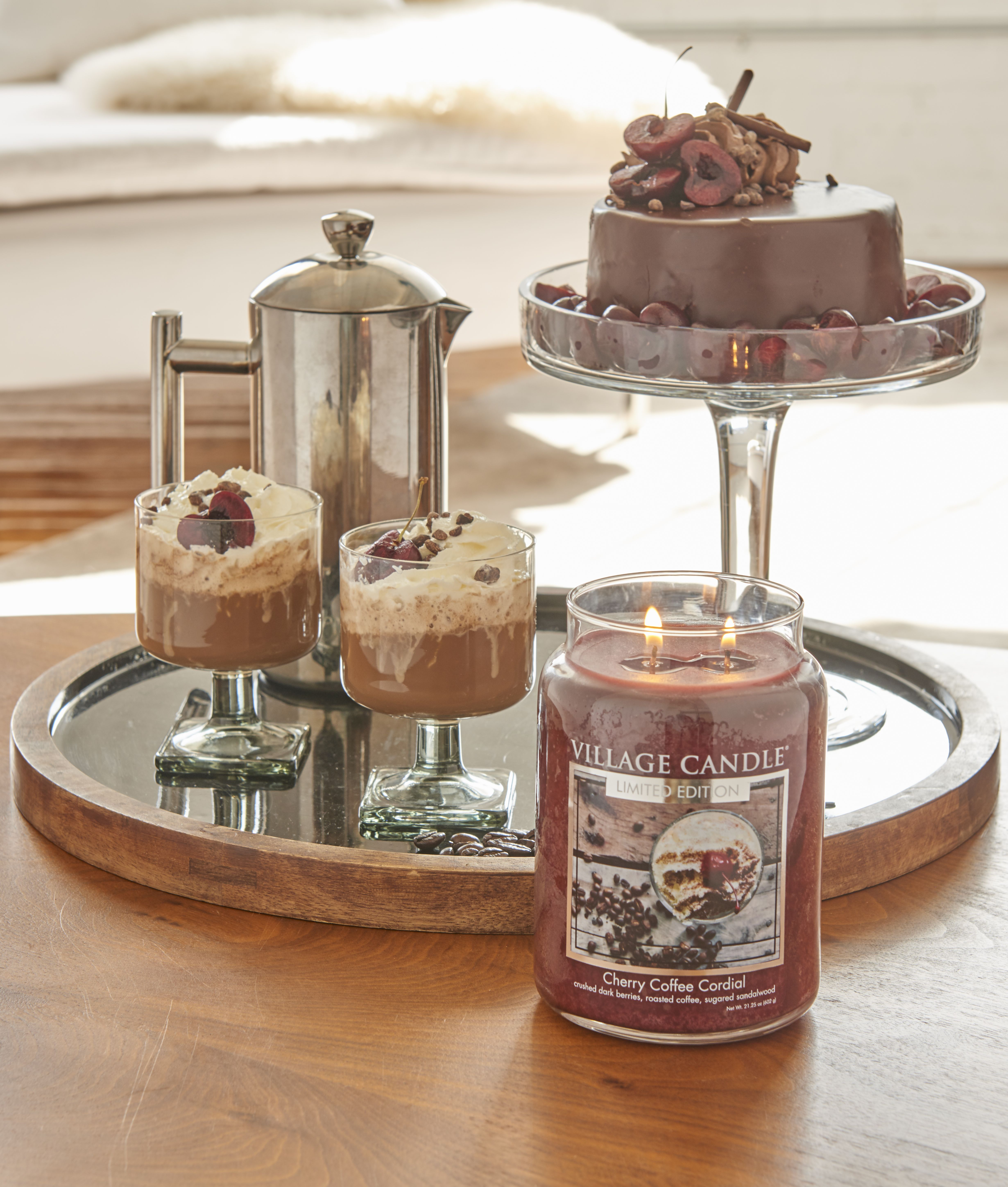 Indulge and enjoy the afterdinner moments cherry coffee
