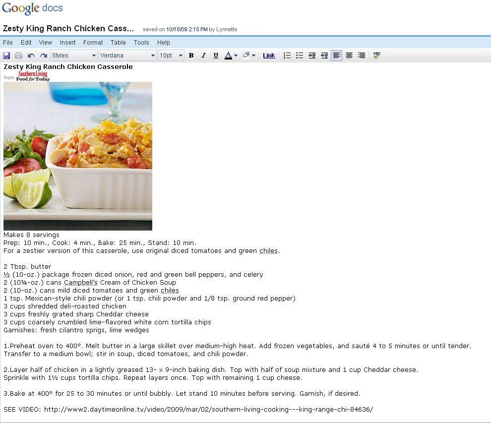 Recipe Template Google Docs Funfndroid
