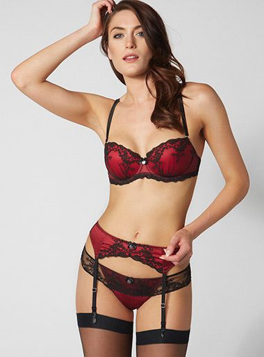 Fearne Suspender Belt - Red Mix  d2834f947